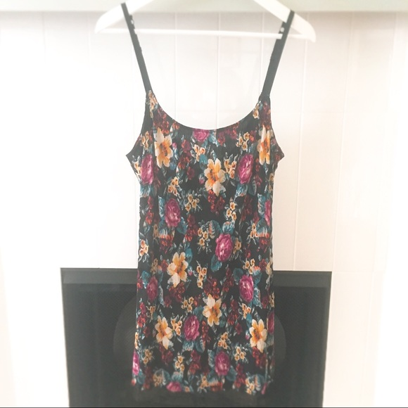 Free People Other - Free People Floral Mini Slip Dress